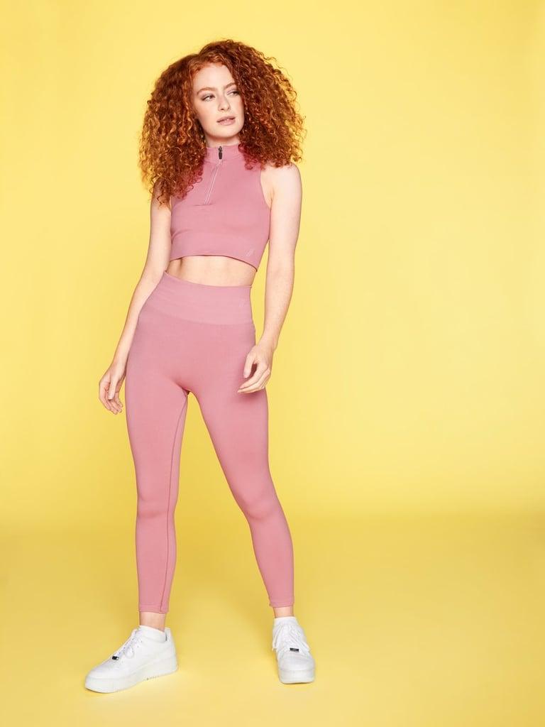 Dusty Pink Zinnia Leggings