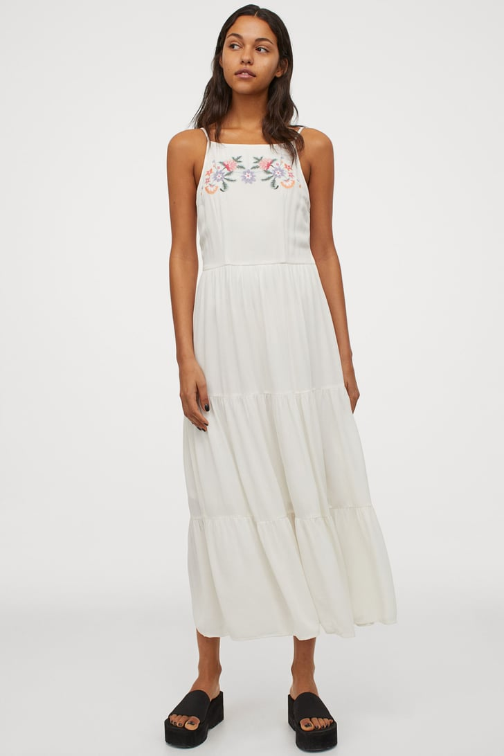 H&M Embroidered Dress | Best Comfortable Midi Dresses ...