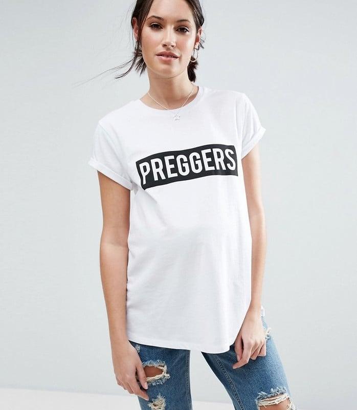 5d4a22d303b37 Preggers Slogan Tee | Best ASOS Maternity Clothes | POPSUGAR Family ...