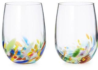 Confetti Wine Glasses
