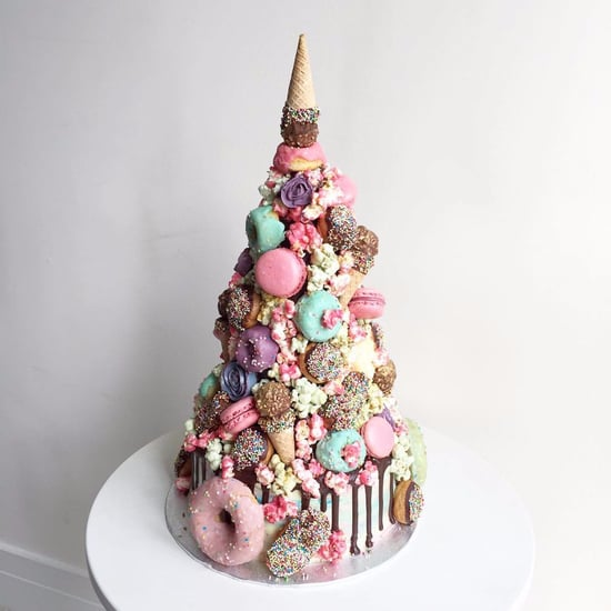Unicorn Croquembouche Wedding Cake