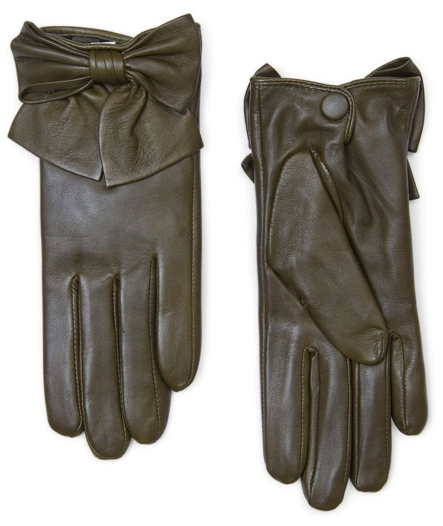 There's something so elegant and An Affair to Remember-like to this ladylike pair of Mango bow leather gloves ($50). We wouldn't mind wearing these styled with a longer peacoat.