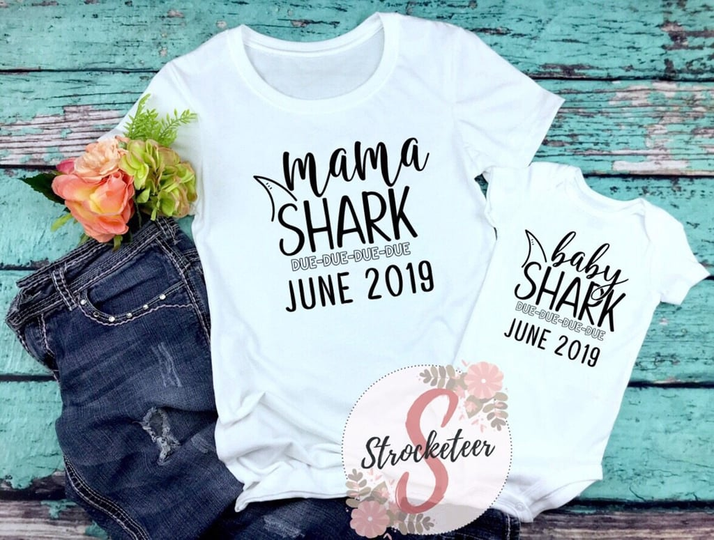 Baby Shark Pregnancy Announcement Onesies and Shirts