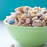 White Chocolate Puppy Chow With Cadbury Eggs