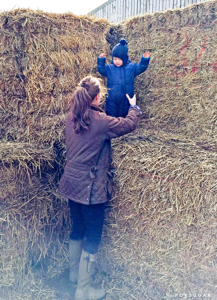 Kate Middleton and Prince George at the Petting Zoo Pictures