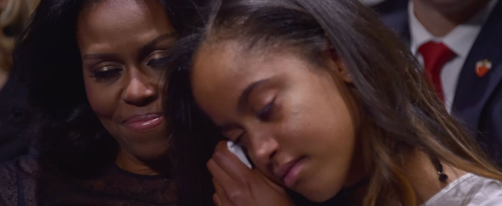 Even Malia Obama Can't Hold Back Tears During Barack's Farewell Address