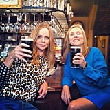 Stella McCartney sipped on a beer with Meredith Vieira.  Source: Twitter user StellaMcCartney
