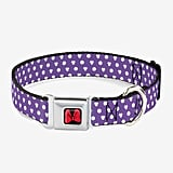 Disney Minnie Mouse Bow Ears Monogram Dots Dog Collar Seatbelt Buckle