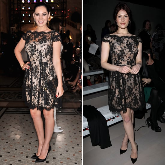 Kelly Brook Vs Gemma Arterton in Issa Black Lace Dress