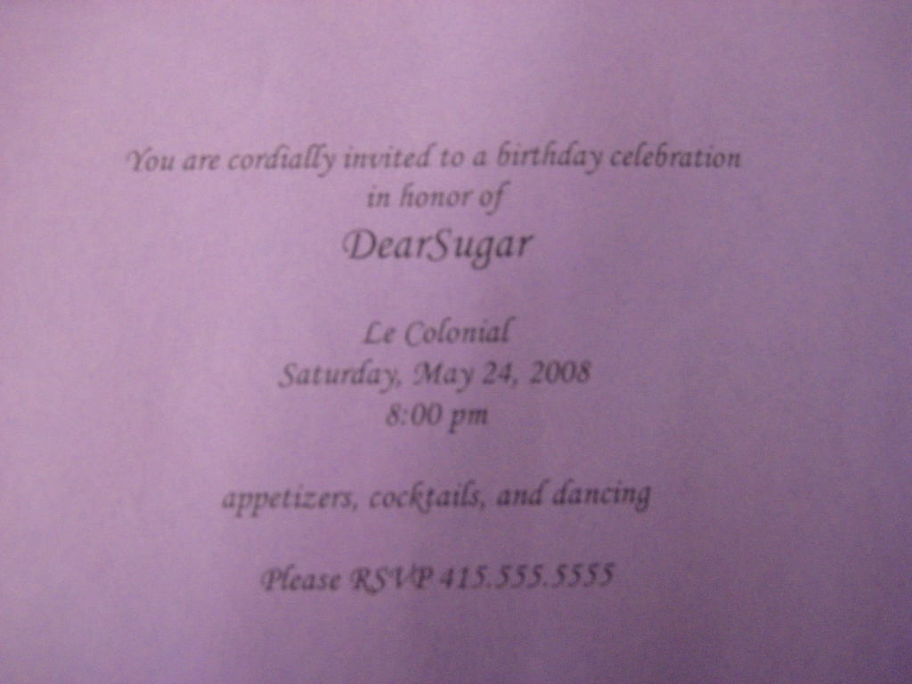 30th Birthday Invite: Step by Step