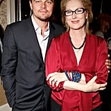 He posed with Meryl Streep at the BAFTA Tea Party in January 2012.