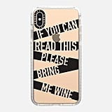 Casetify If You Can Read This Bring Me Wine Case