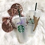 Tinkerbell Personalized Iced Coffee Cup