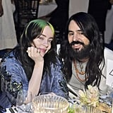 Billie Eilish and Alessandro Michele at the 2019 LACMA Art + Film Gala