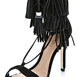 Schutz Suede Fringe Sandals ($200)