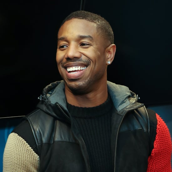 Michael B. Jordan and Martinelli's Apple Juice