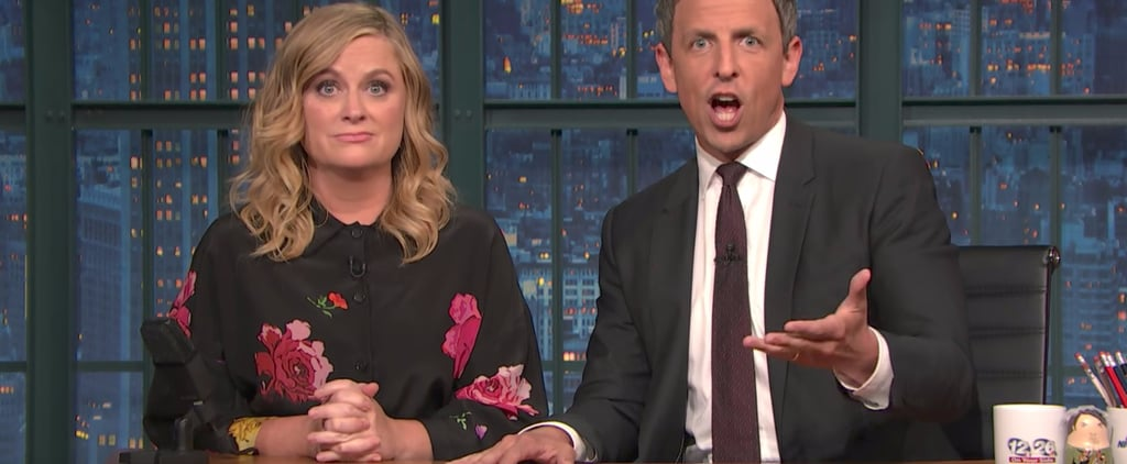 Seth Meyers and Amy Poehler Reunite to Take On Pro-Trump Julius Caesar Protesters