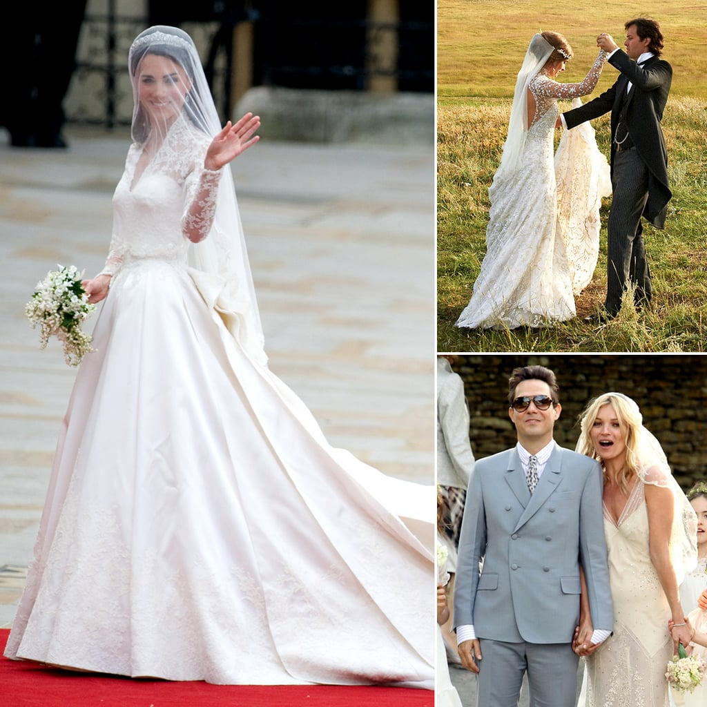 who did the dress 12 celebrity wedding gowns the designers who created them