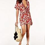 Michael Kors Printed Tie-Front Dress Cover-Up