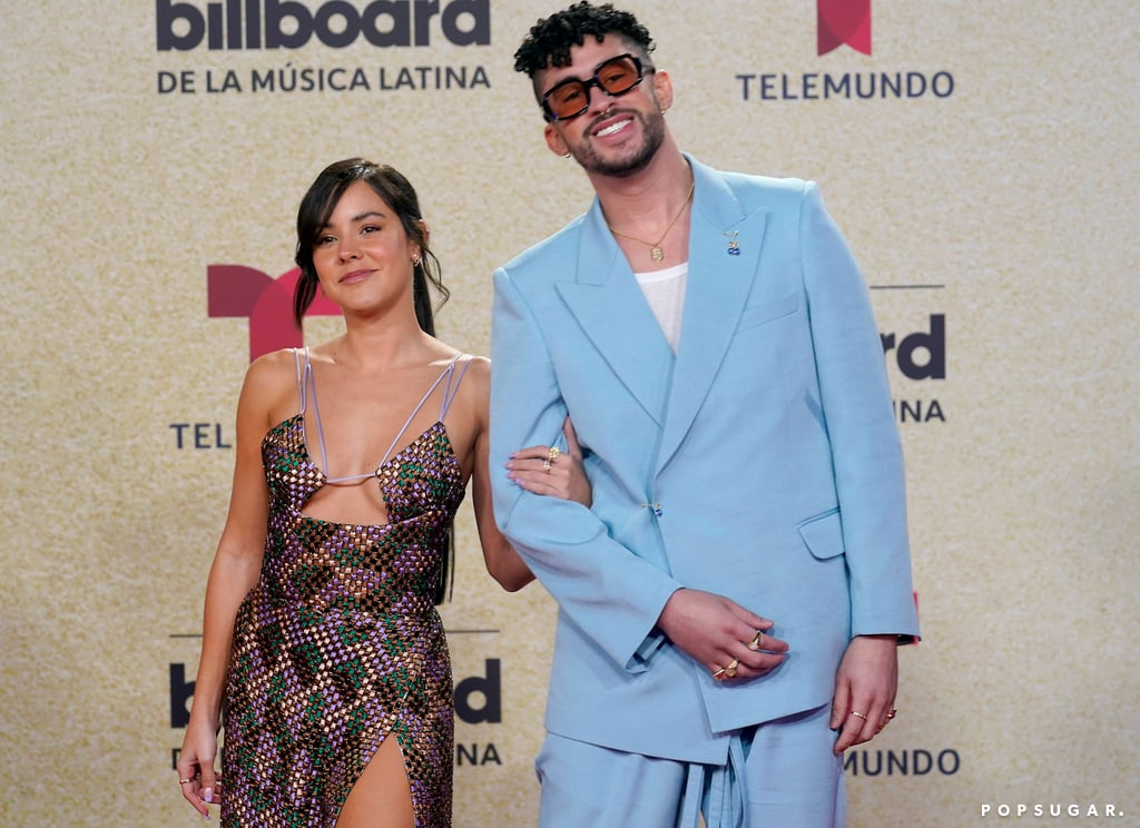"""Bad Bunny and Gabriela Berlingeri are red carpet official! On Thursday night, the 27-year-old singer made his red carpet debut with his longtime girlfriend at the Billboard Latin Music Awards in Florida. The two duo looked cozy as they cuddled up for the cameras and flashed big smiles. In addition to his relationship milestone, Bad Bunny swept up the awards during the show, taking home 10 wins including artist of the year.  Bad Bunny and Gabriela first started dating in 2017, but have kept their relationship relatively out of the spotlight. They made their first public appearance at a Miami Heat basketball game in February 2020, and eventually went Instagram official a month later. Bad Bunny briefly opened up about Gabriela in his May 2020 cover story with Rolling Stone, saying, """"Do people really think I'm spending quarantine alone? No! I am with someone, she is very special in my life. This quarantine has made me understand that she is the best companion I could have. I am happy with her. [People] don't know she has helped me a lot in emotional aspects when I needed it the most."""" Aww! See more pictures from their red carpet debut ahead.       Related:                                                                                                           Bad Bunny Landing on the Time 100 List Signals Another Big Moment in the Latinx Takeover"""