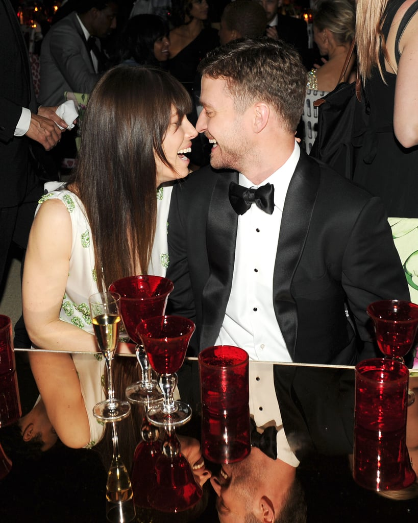 Jessica Biel and Justin Timberlake locked eyes — and lips! Billy Farrell/BFAnyc.com