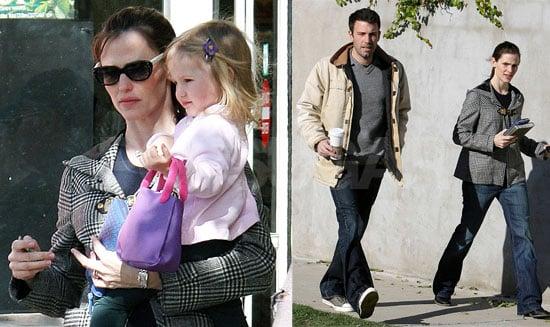 Jennifer Garner, Ben Affleck and Violet Affleck in LA on January 24, 2008