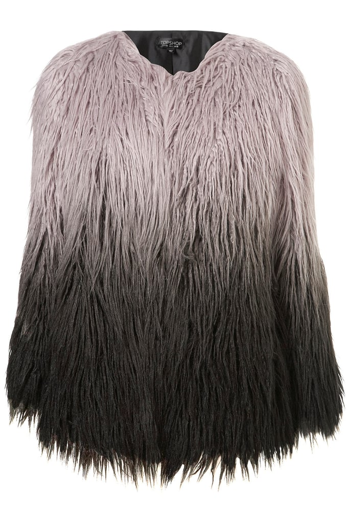 We could see Kate Moss rocking Topshop's Ombré Faux Mongolian Fur Coat ($178).
