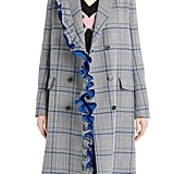 MSGM Ruffle Plaid Coat