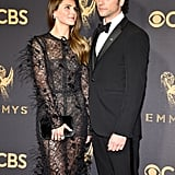 Keri Russell and Matthew Rhys at the 2017 Emmys