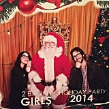 Kat Dennings and Josh Groban caught up with Santa Claus.