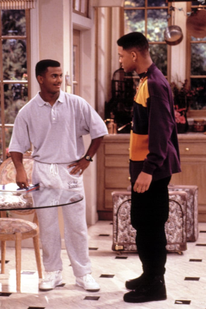 He was clearly ahead of his time with this lavender set and white sneakers.