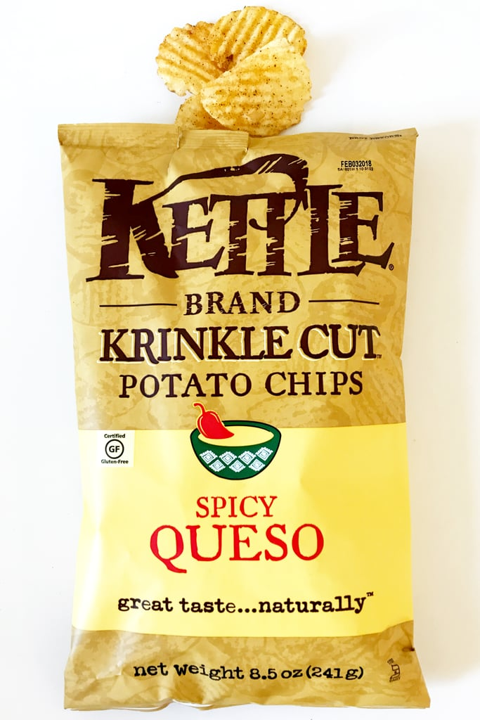 Kettle Brand Krinkle Cut Potato Chips in Spicy Queso