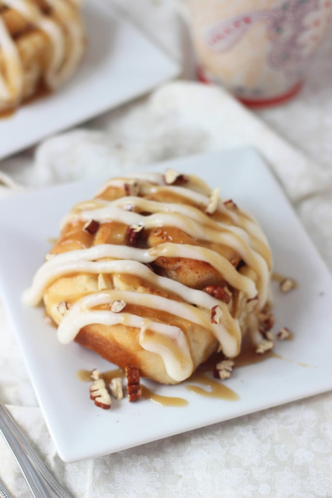 Apple Pecan Cinnamon Rolls With Cream Cheese Frosting