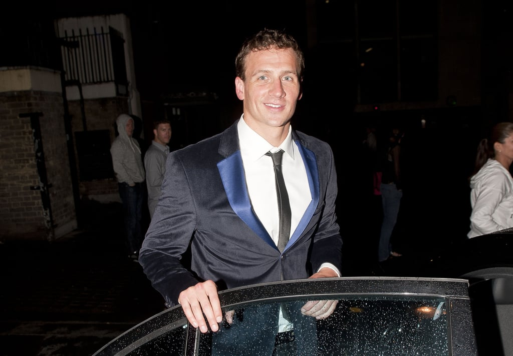Ryan Lochte smiled one last time before he left club Makini.