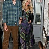 Jessica Simpson and Eric Johnson went out without baby Maxwell.
