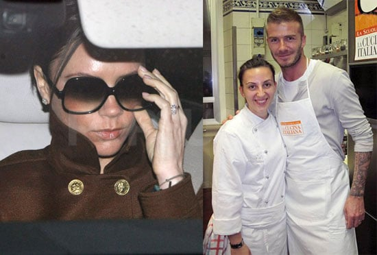 Photos of David and Victoria Beckham in Europe