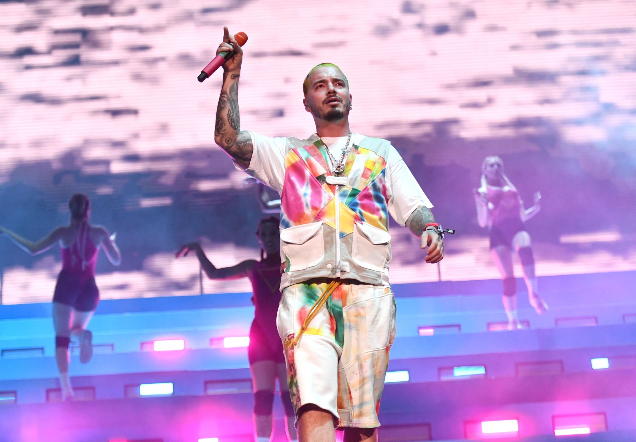 INDIO, CALIFORNIA - APRIL 13: Singer J Balvin performs onstage during Weekend 1, Day 2 of the Coachella Valley Music and Arts Festival on April 13, 2019 in Indio, California. (Photo by Scott Dudelson/Getty Images for Coachella)