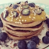 Zucchini pancakes may sound odd, but they sure won't taste that way — plus they offer an extra chance to pack in diet-friendly veggies. This Instagram user whipped up these pancakes using one cup rolled oats, one grated zucchini, four chia and flaxseed eggs (two tablespoons chia, two tablespoons flaxseed, and eight tablespoons water), 1/3 cup coconut yogurt, 1/4 cup hemp seeds, and one ripe banana. Source: Instagram user pancakesandflowers