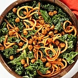 Vegan Kale and Sweet Potato Noodle Caesar Salad