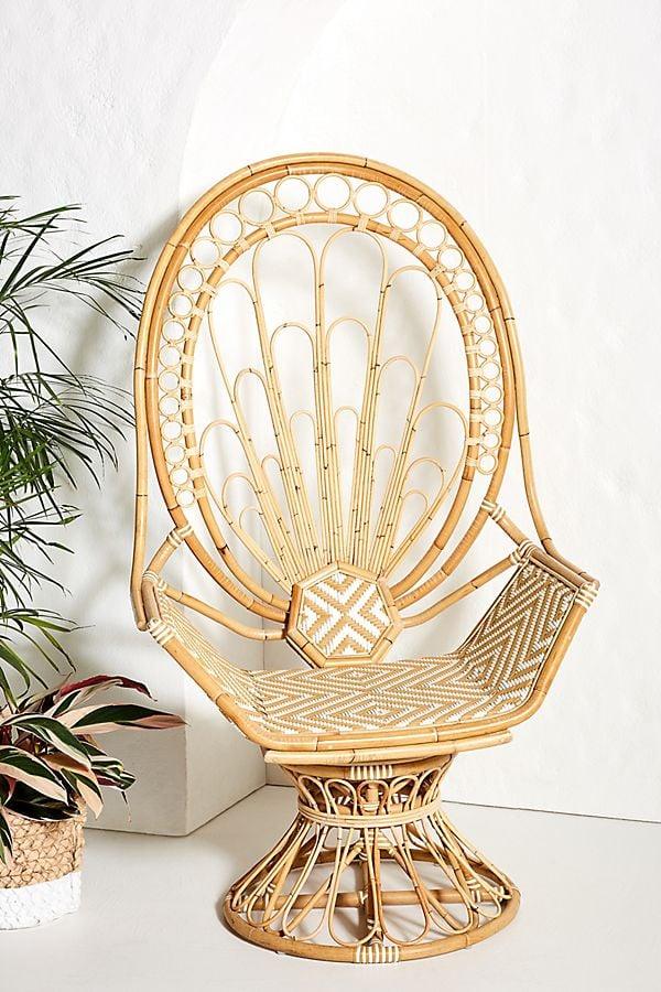Justina Blakeney Peacock Rattan Chair
