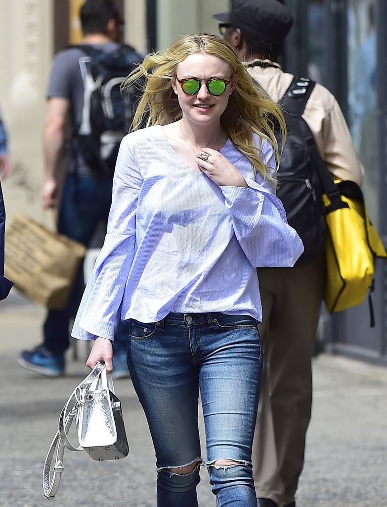 She's Used This Trick Before, Stepping Out in Blue Shirts