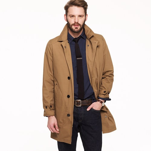 Every dad should have a classic trench coat, and this one will give him a sharp, Humphrey Bogart-esque look.  J.Crew Wedgewood Trench ($218)