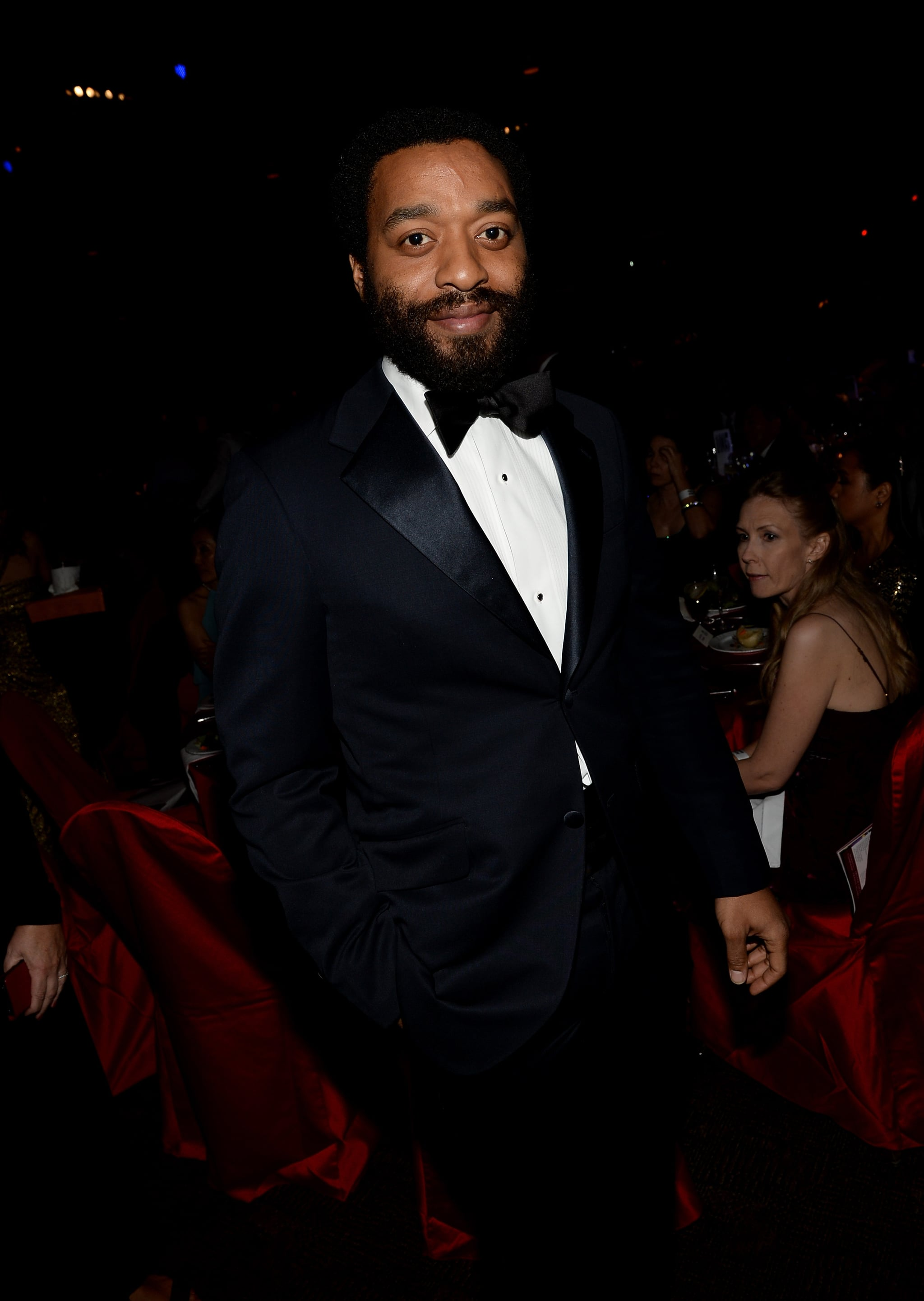 Chiwetel Ejiofor was on hand to celebrate his 12 Years a Slave director, Steve McQueen.