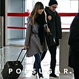 Jessica Biel and Justin Timberlake made their way through the airport in Paris together.