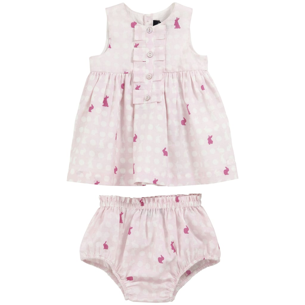 Lili Gaufrette Light Pink Printed Dress and Bloomers ($83)