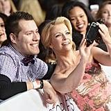 Melissa Joan Hart held the camera for a fan selfie.