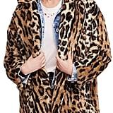 Free People Kate Leopard Print Faux Fur Coat