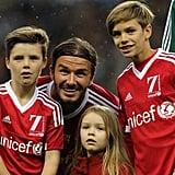 Dad David Beckham