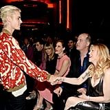 Pictured: Justin Bieber and Courtney Love
