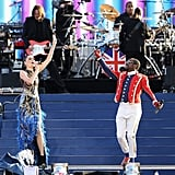 Will.i.am and Jessie J performed on stage for the Diamond Jubilee concert.